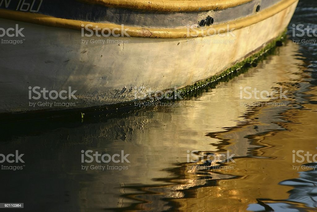 Colourful boat reflection royalty-free stock photo