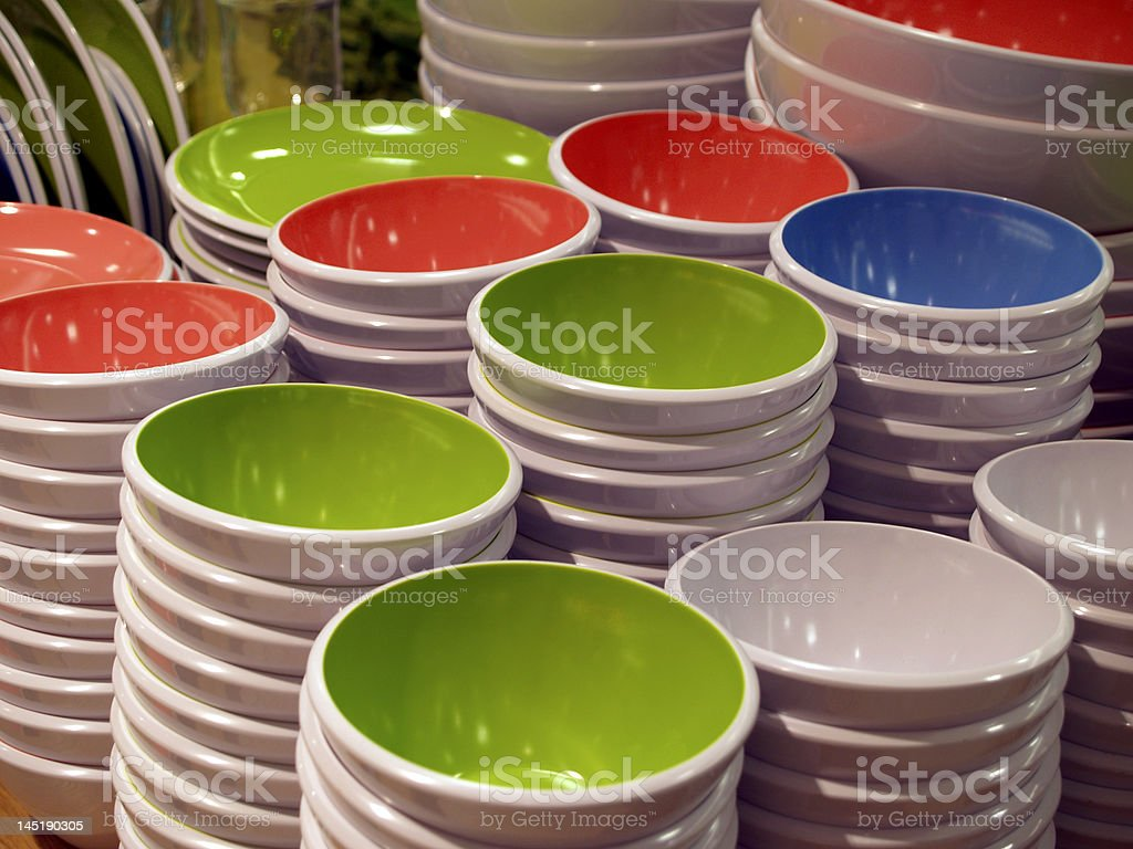 Colourful bowls royalty-free stock photo