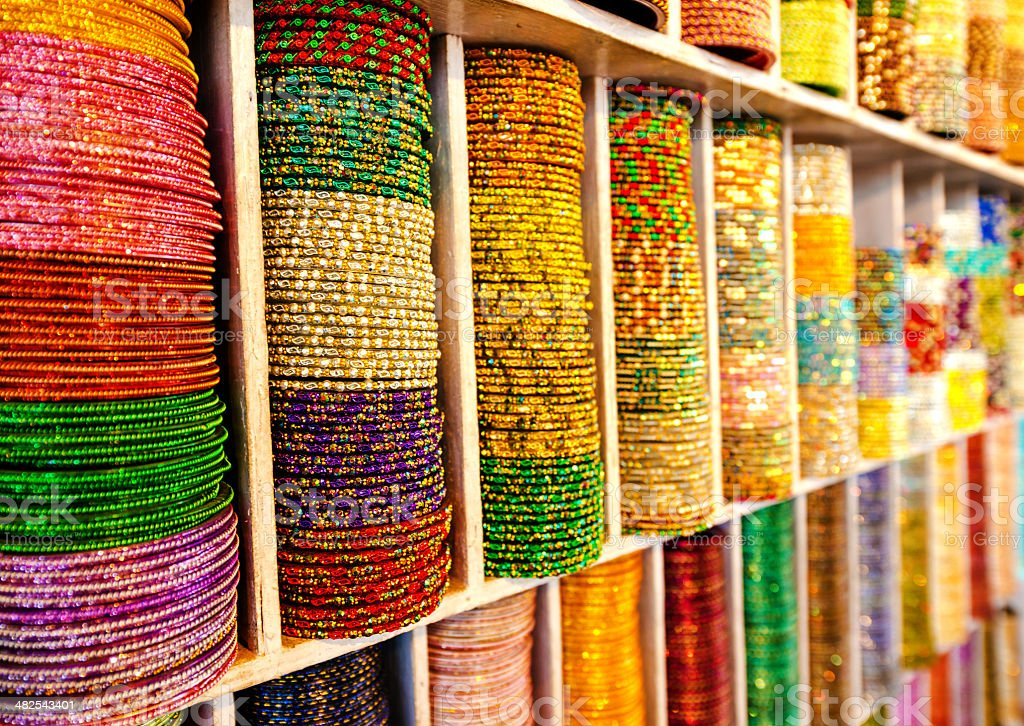 colourful bracelets for sale royalty-free stock photo