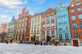 istock Colourful buildings in the european street of Gdansk, Long Market 1131201929