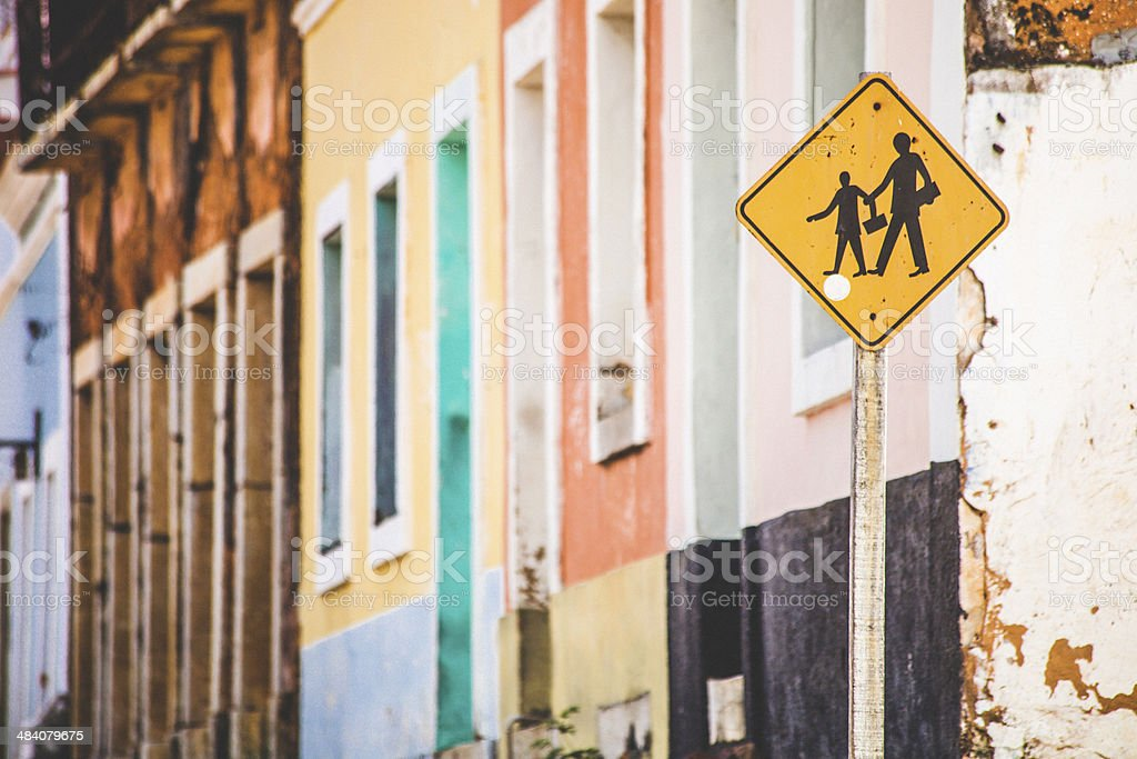 Colourful buildings. stock photo
