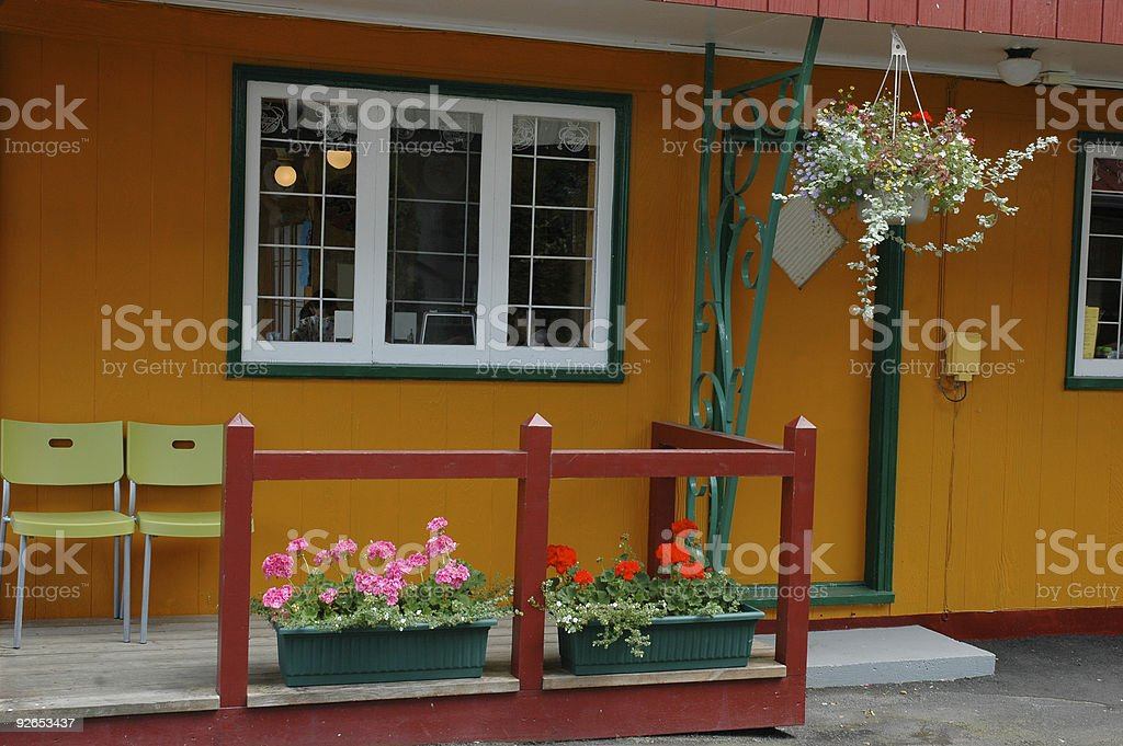 Colourful cafe royalty-free stock photo