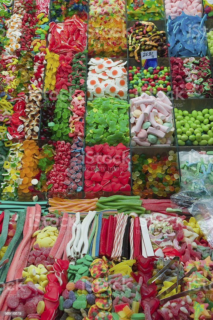 Colourful candies on a market royalty-free stock photo