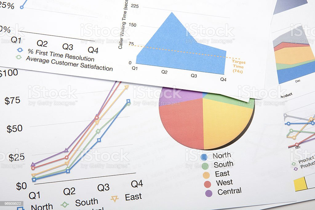 Colourful Charts  Business Stock Photo