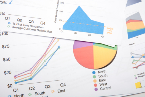 Colourful Charts Stock Photo - Download Image Now