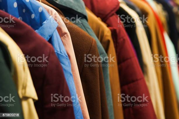 Colourful coats in the charity shop picture id875820218?b=1&k=6&m=875820218&s=612x612&h=jm4 n qbinsnra2icqw3pqvx2qpdif7zmkrv jdhi98=
