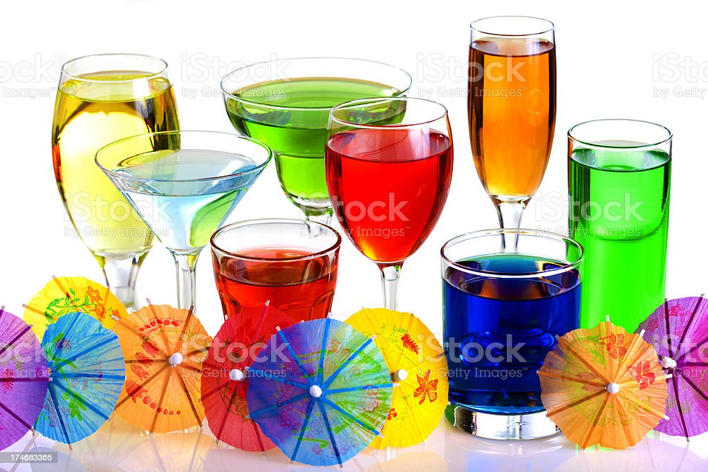 Colourful Cocktail Drinks royalty-free stock photo