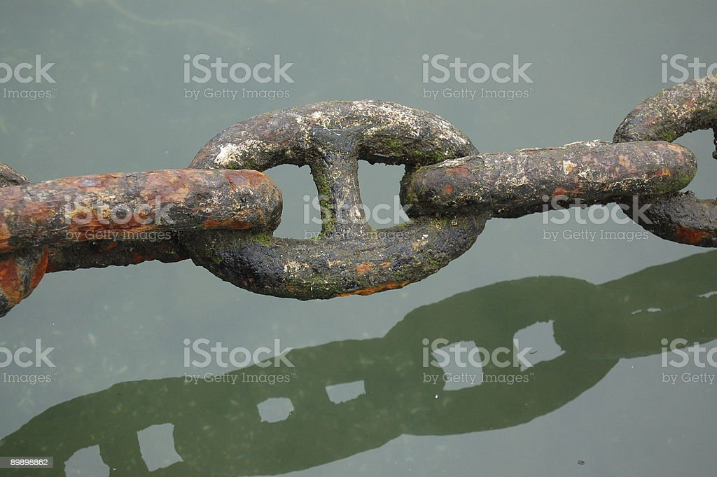 Colourful corroded chain royalty-free stock photo