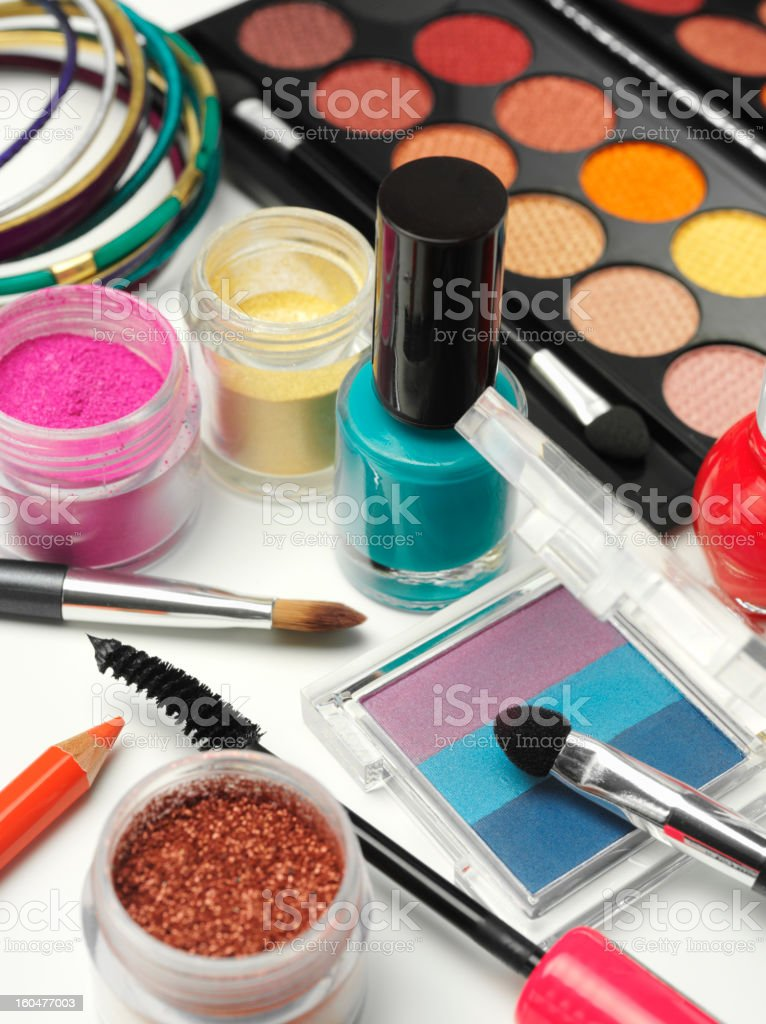 Colourful Cosmetics royalty-free stock photo