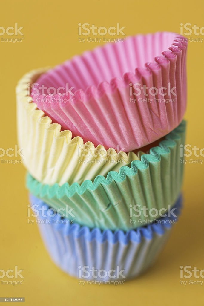 Colourful cupcake cases stock photo