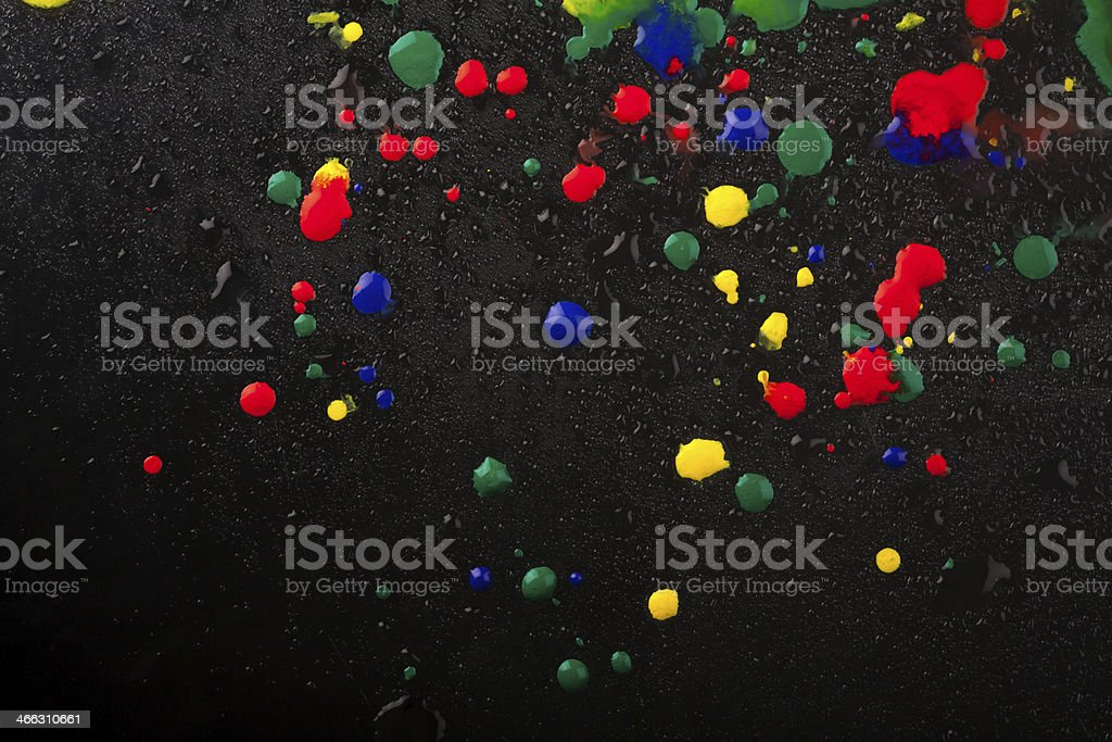 Colourful drops stock photo