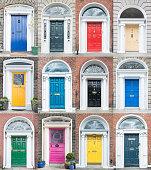 Colourful Dublin doors