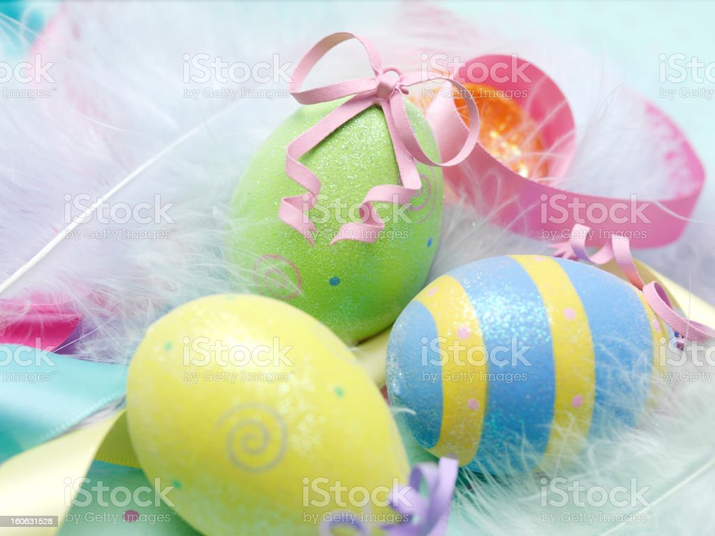 Colourful Easter Eggs royalty-free stock photo