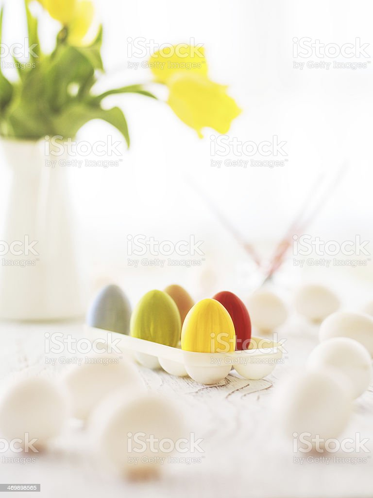 Colourful Easter royalty-free stock photo