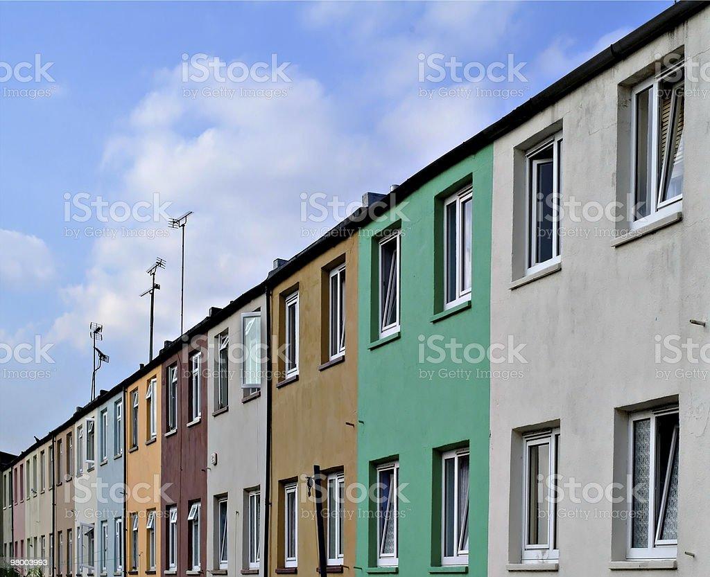 Colorido casas de campo inglesas foto royalty-free