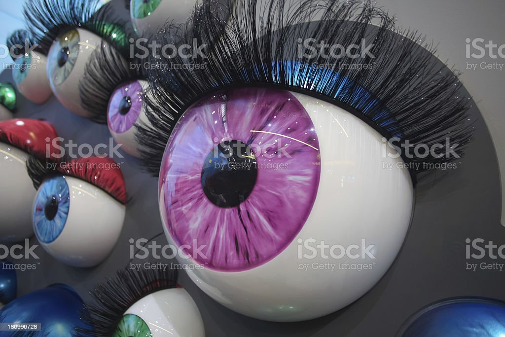 colourful eyes royalty-free stock photo
