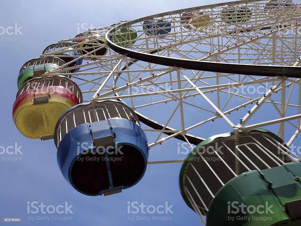 Colourful ferris wheel royalty-free stock photo