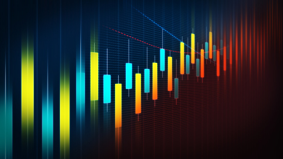 istock Colourful Financial Chart Background 1135952174