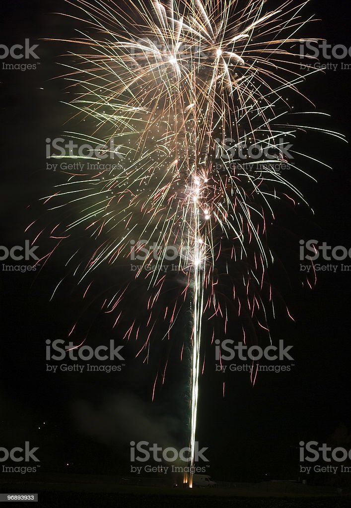 Colourful fireworks in the dark royalty-free stock photo