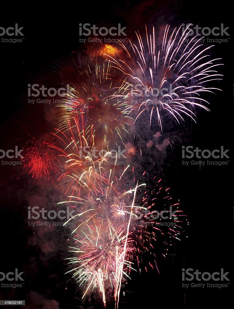 Colourful Fireworks royalty-free stock photo
