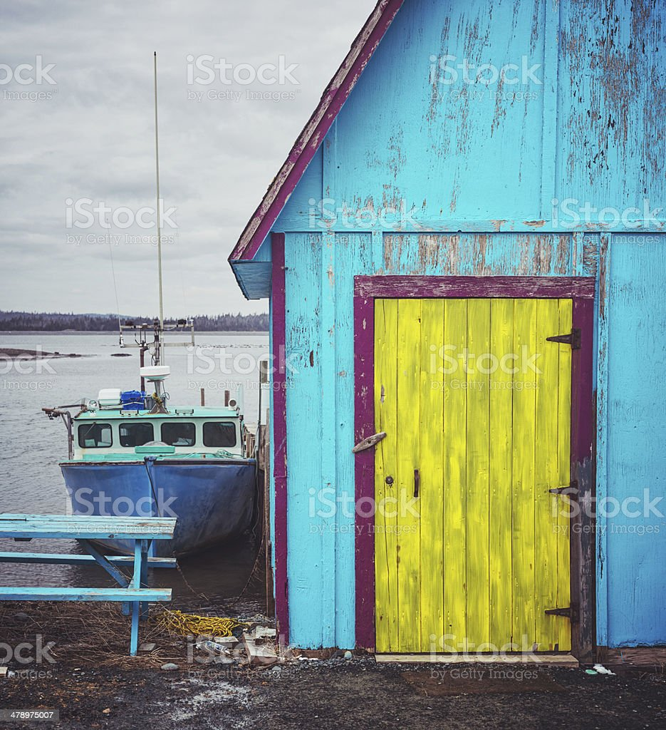 Colourful Fishing Village stock photo