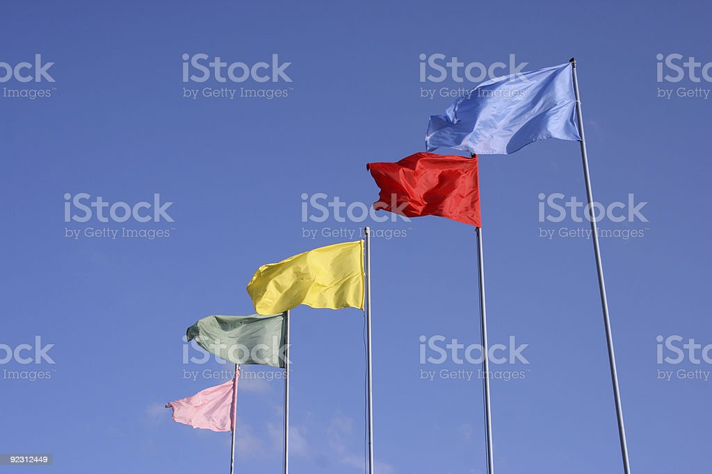 Colourful Flags royalty-free stock photo