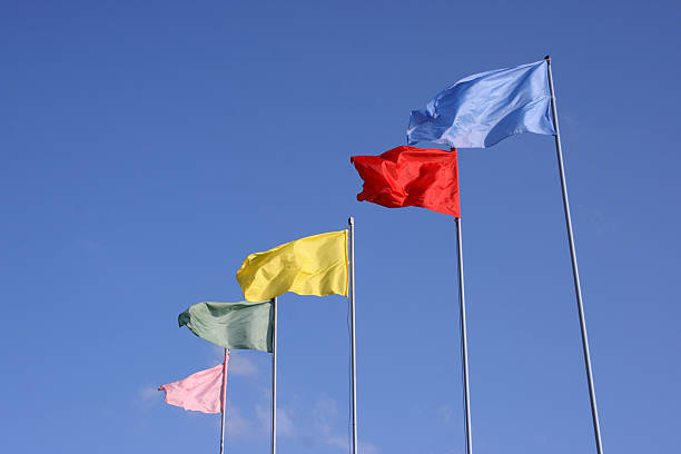 Colourful Flags stock photo