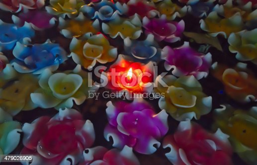 459851883 istock photo Colourful floating candles 479026905