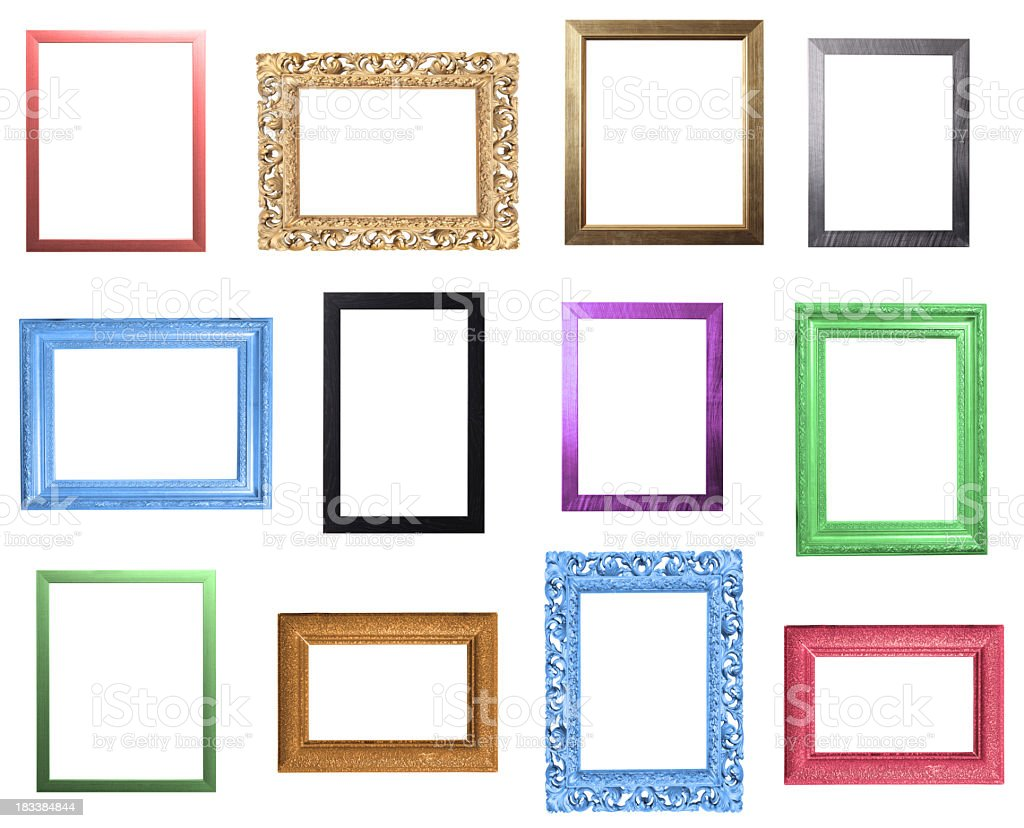 aa14193d04 Colourful Frames Selection Stock Photo   More Pictures of Antique
