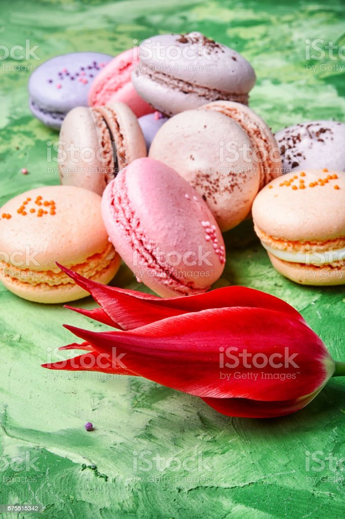 colourful french macaroons photo libre de droits