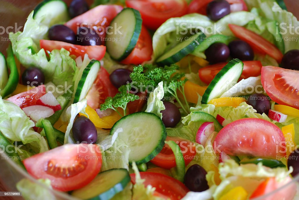 Colourful Fresh Salad royalty-free stock photo