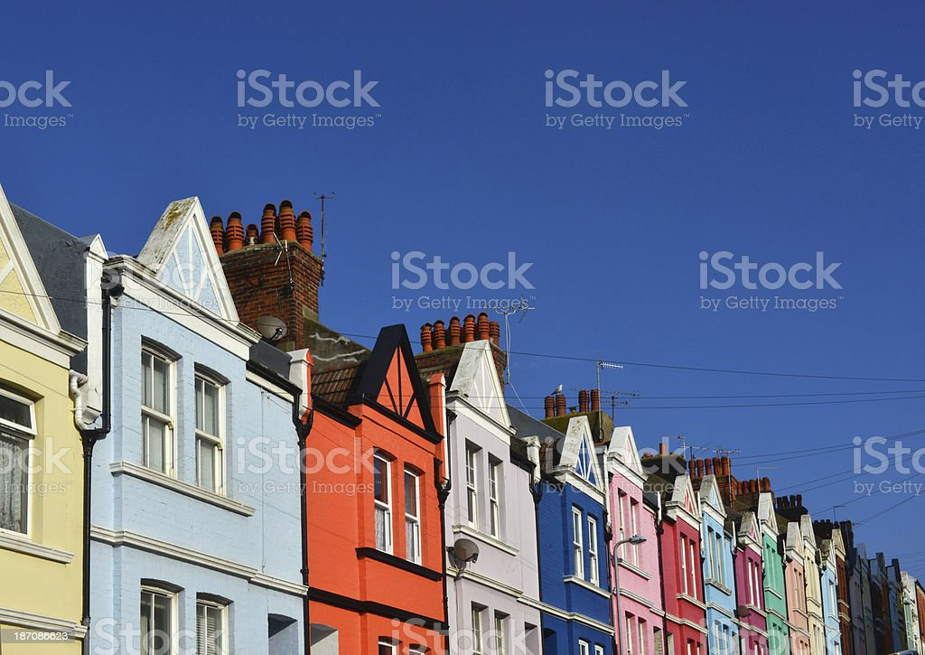 Colourful Gables stock photo