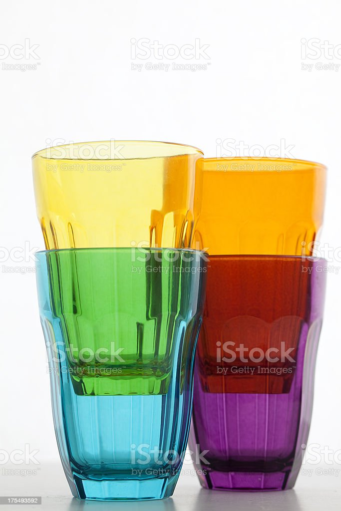 Colourful glasses stock photo