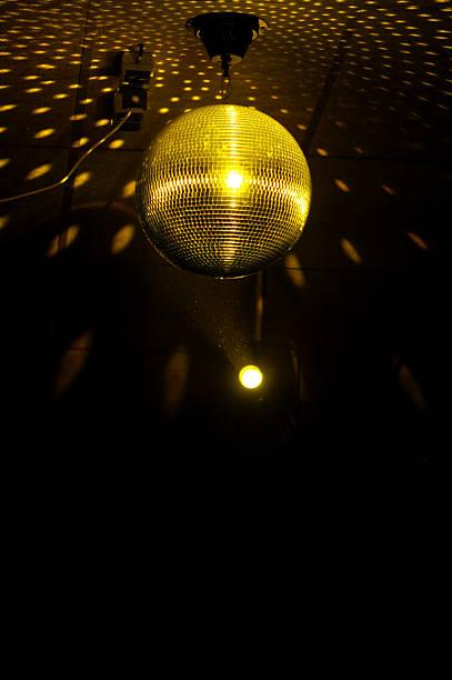 colourful glitter mirrorball in disco new 2 stock photo