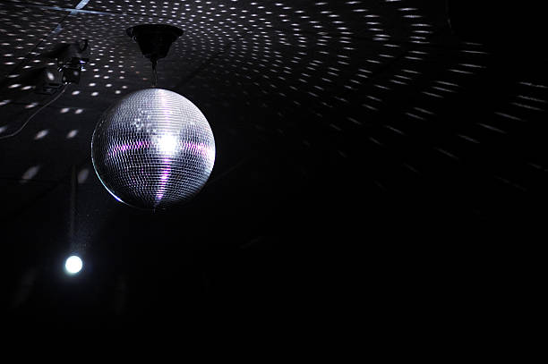 colourful glitter mirrorball in disco new 3 - disco ball stock pictures, royalty-free photos & images
