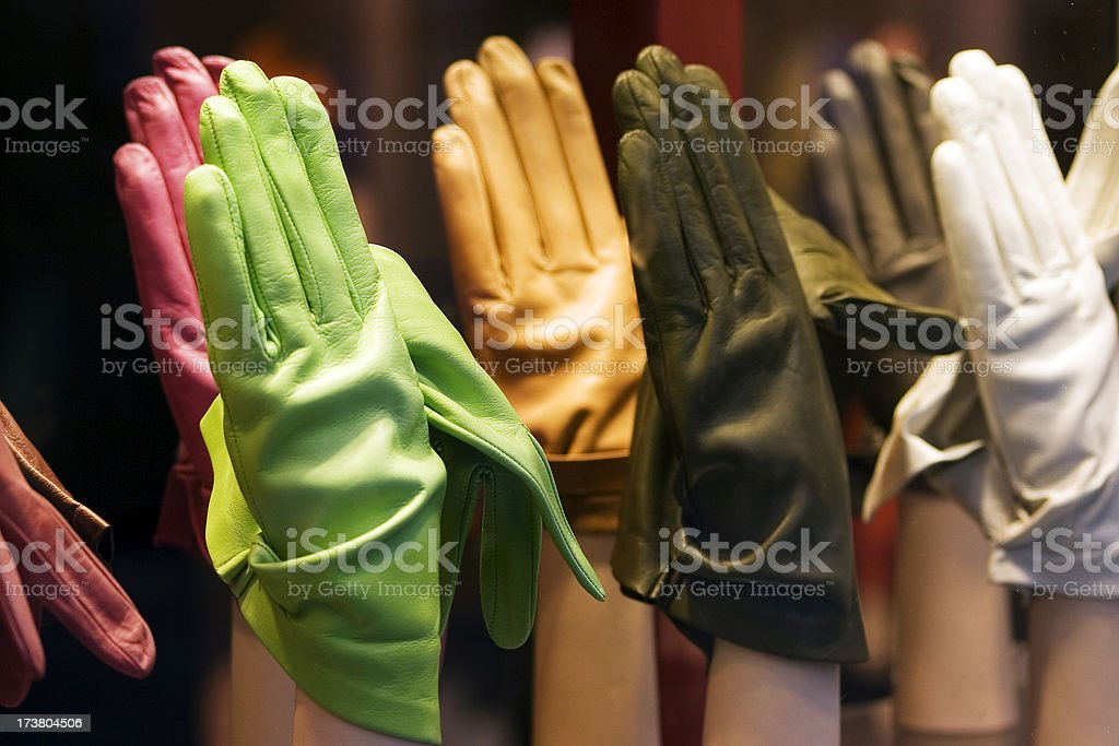 Colourful gloves stock photo