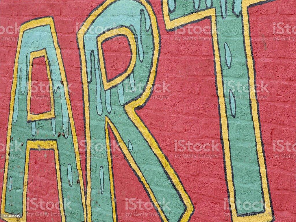 Colourful grafitti on wall royalty-free stock photo