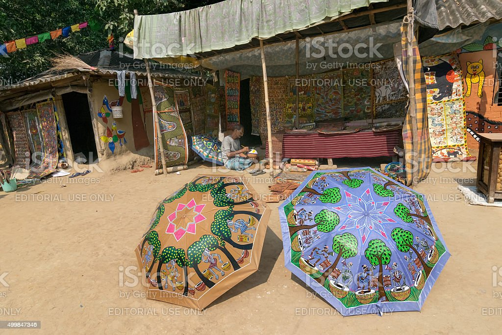 Colourful Handicrafts For Sale In Pingla Village West Bengal India