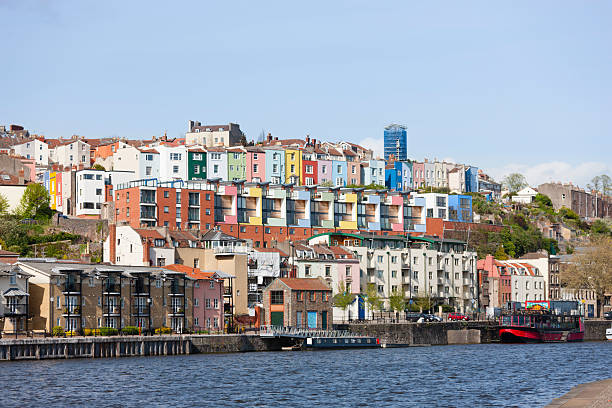 "Colourful Harbourside Houses ""Georgian and modern townhouses at Bristol docks, England."" theasis stock pictures, royalty-free photos & images"