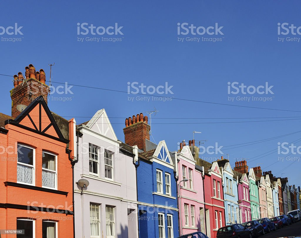 Colourful homes royalty-free stock photo