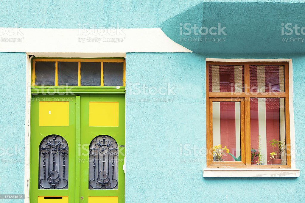 Colourful house in Brasov, Romania royalty-free stock photo