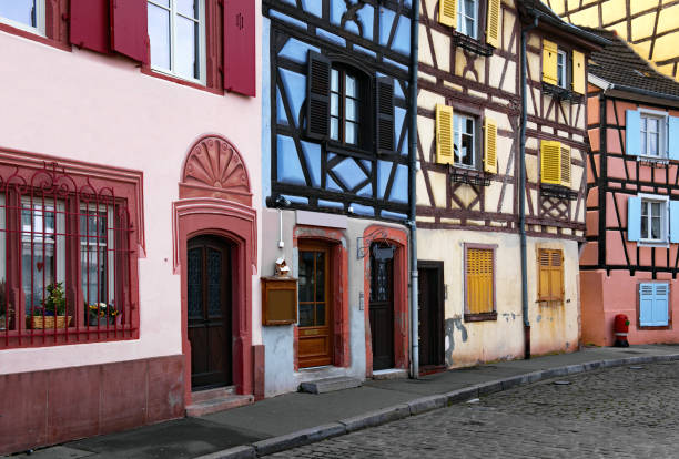 Colourful Houses, Colmar, Alsace, France stock photo