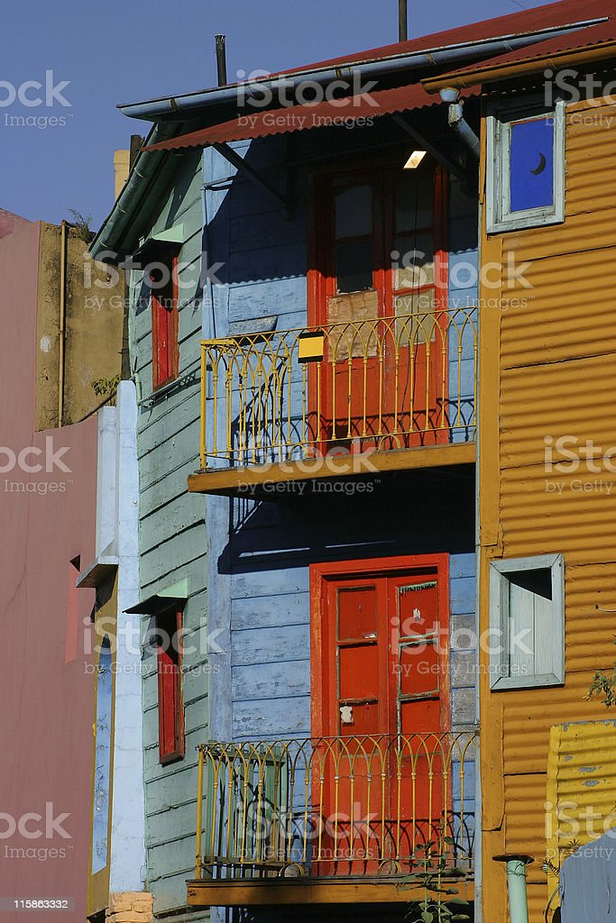 Colourful houses in Buenos Aires Argentina royalty-free stock photo