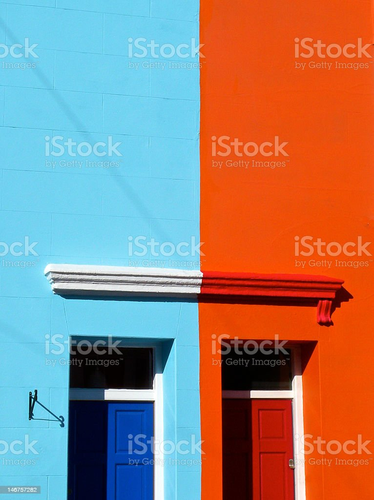 Colourful Houses royalty-free stock photo