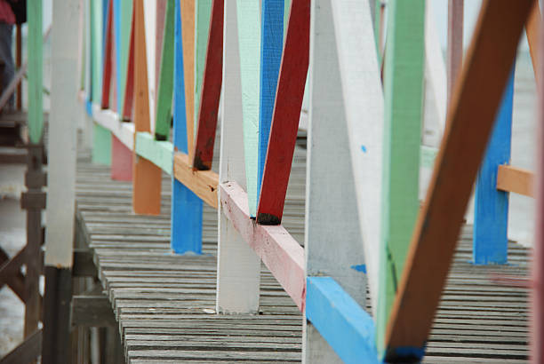 Colourful Jetty stock photo