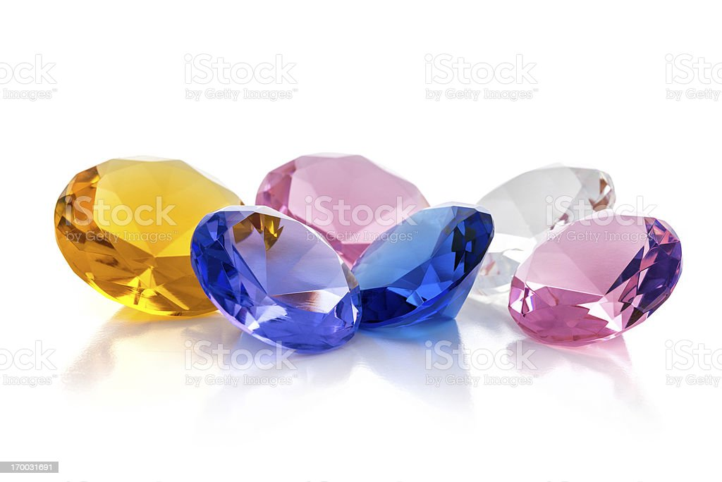 Colourful jewels stock photo