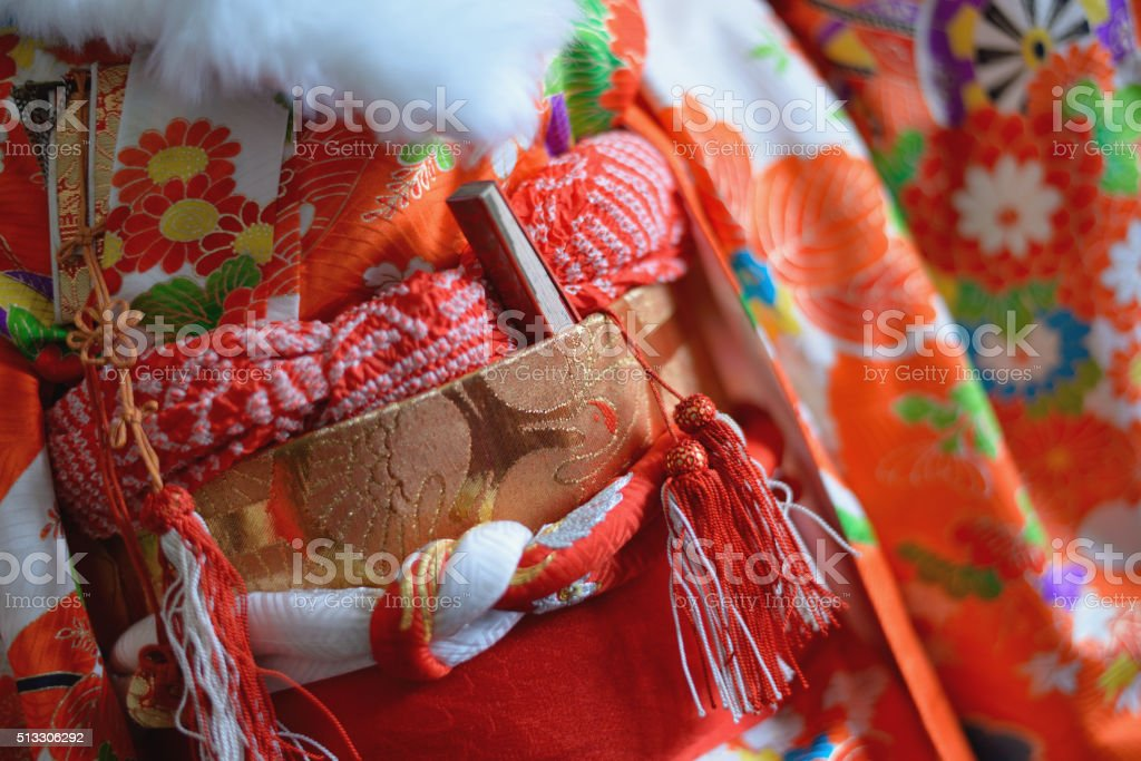Colourful kimono stock photo