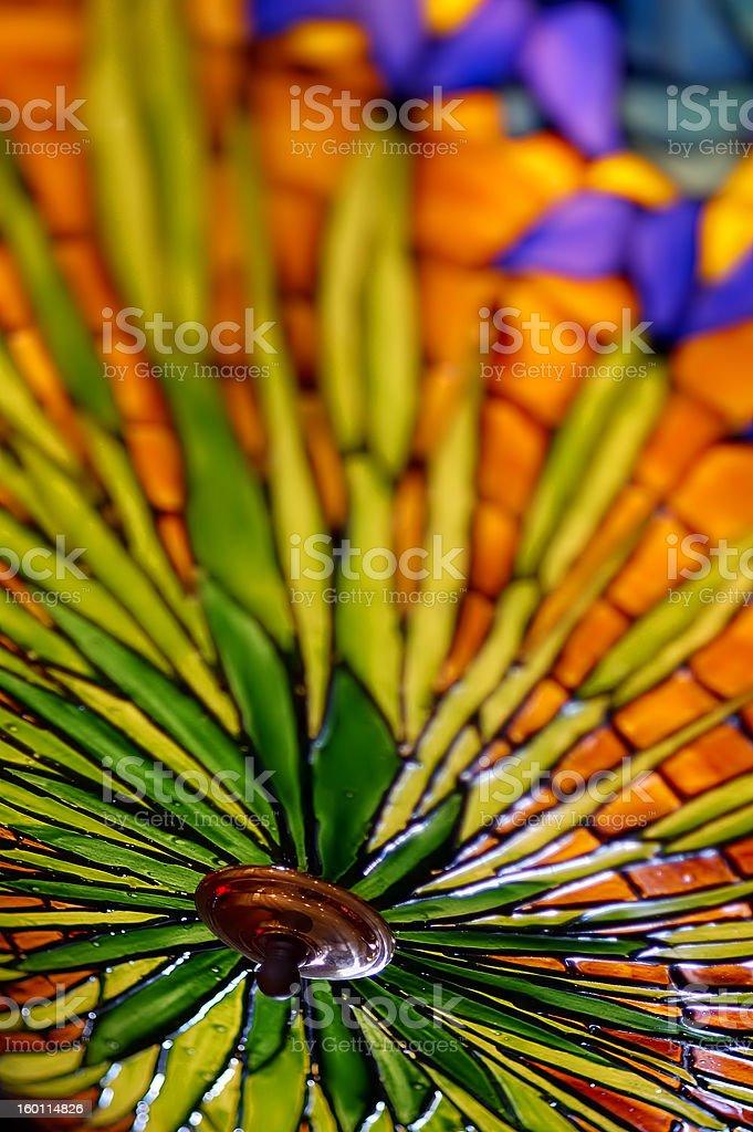 Colourful Lamp Shade stock photo