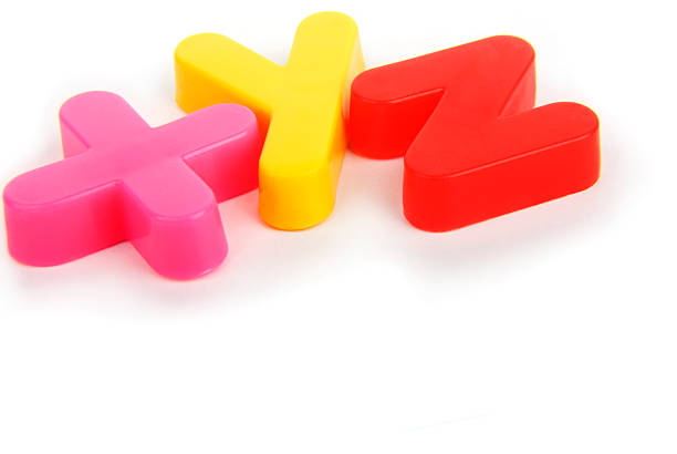 XYZ Colourful lettering stock photo