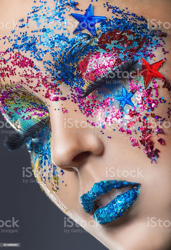 Colourful makeup stock photo